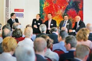 Podiumsgespräch auf dem 9. logistikevent von EKUPAC und HERZIG, April 2013.